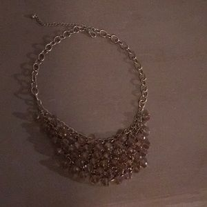 Jewelry - Gold and iridescent bead bib necklace